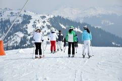 Ski resort in the Alps Stock Images