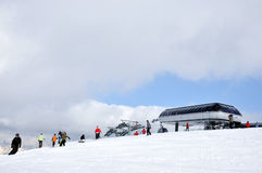 Ski resort in the Alps Royalty Free Stock Images