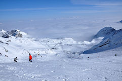 Ski resort in the Alps. Kitzsteinhorn, Austria Stock Images