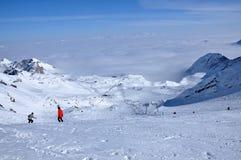 Ski resort in the Alps. Kitzsteinhorn, Austria. Ski resort in the Alps in a sunny day. Kitzsteinhorn, Austria Stock Images