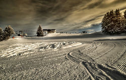 Ski resort in Alps Royalty Free Stock Photos