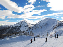 Ski resort in the Alps Stock Photography