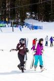 Ski resort. Arapahoe Basin, Colorado, USA-January 18, 2015. Mid season skiing at Araphoe basing ski resort Royalty Free Stock Photography