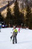 Ski resort. Arapahoe Basin, Colorado, USA-January 18, 2015. Mid season skiing at Araphoe basing ski resort Royalty Free Stock Photos