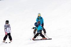 Ski resort. Arapahoe Basin, Colorado, USA-January 18, 2015. Mid season skiing at Araphoe basing ski resort Royalty Free Stock Photo