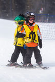 Ski resort. Arapahoe Basin, Colorado, USA-January 18, 2015. Mid season skiing at Araphoe basing ski resort Royalty Free Stock Images
