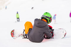 Ski resort. Arapahoe Basin, Colorado, USA-January 18, 2015. Mid season skiing at Araphoe basing ski resort Stock Image