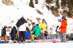 Ski resort. Arapahoe Basin, Colorado, USA-January 18, 2015. Mid season skiing at Araphoe basing ski resort Stock Photo