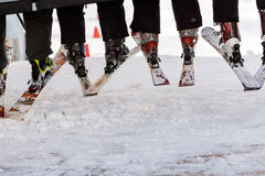 Ski resort. Arapahoe Basin, Colorado, USA-January 18, 2015. Mid season skiing at Araphoe basing ski resort Stock Photos