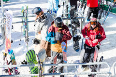 Ski resort. Arapahoe Basin, Colorado, USA-January 18, 2015. Mid season skiing at Araphoe basing ski resort Stock Photography