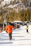 Ski resort. Arapahoe Basin, Colorado, USA-January 18, 2015. Mid season skiing at Araphoe basing ski resort Stock Images