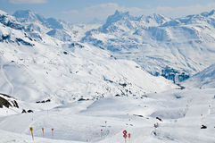 Ski resort in Austrian alps Royalty Free Stock Photography