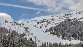 Ski resort in Austrian Alps stock video footage