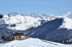 Ski resort in the Austrian Alps Royalty Free Stock Photos