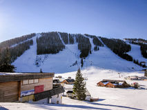 Ski resort in the Austrian Alps. Royalty Free Stock Photography