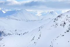 Ski resort in the Austrian Alps Stock Photo