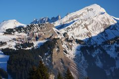 The ski resort of Avoriaz in the French Alps Stock Image