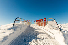 Ski resort Bad Gastein in winter snowy mountains, Austria, Land Salzburg,  Austrian alps Stock Photos
