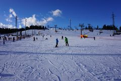 Ski Resort Bania dans Bialka Tatrzanska Pologne Photo stock