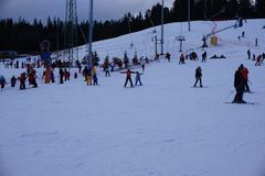 Ski Resort Bania no Polônia de Bialka Tatrzanska foto de stock royalty free