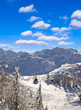 Ski resort of Bovec Stock Images