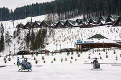 Ski resort Bukovel Royalty Free Stock Photos