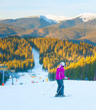 Ski resort. Bukovel, Ukraine Royalty Free Stock Images