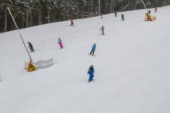 Ski resort Bukovel, Ukraine. Royalty Free Stock Photo