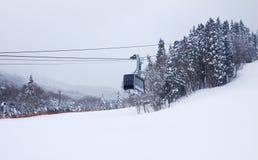 Ski resort cable car Stock Photo