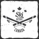 Ski resort, Canada. Concept for badge. shirt, print, seal or stamp. Ski resort typography design- stock vector Stock Photography