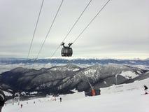 Ski resort. In the Carpathian mountains Stock Images
