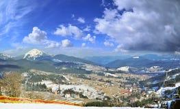 Ski resort in carpathian mountains Stock Image