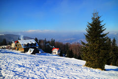 Ski resort in the Carpathians Stock Image