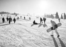 Ski resort in the Carpathians Stock Images