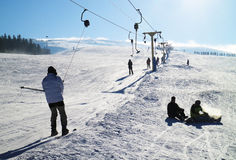 Ski resort in the Carpathians Stock Photo