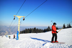 Ski resort in the Carpathians Royalty Free Stock Photo