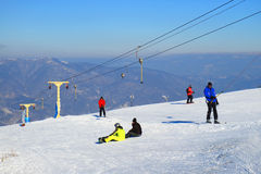 Ski resort in the Carpathians Royalty Free Stock Image