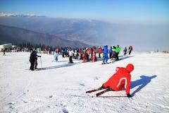 Ski resort in the Carpathians Royalty Free Stock Photos