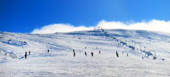 Ski resort in the Carpathians Royalty Free Stock Images