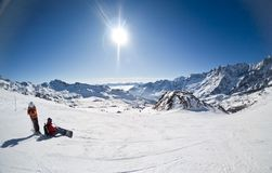 Ski resort of Cervinia, Italy Royalty Free Stock Image