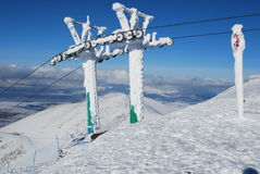 Ski Resort chair lift Royalty Free Stock Image