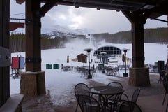 Ski resort chair lift Royalty Free Stock Images