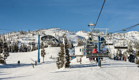 Ski Resort Chairlift Stock Image