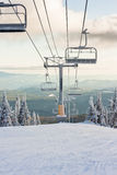 A Ski Resort Chairlift in Winter Royalty Free Stock Photo