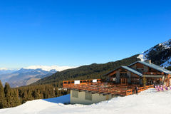 Ski resort chalet Stock Photography