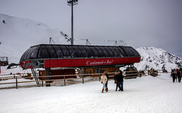 Ski resort Chimbulak. Royalty Free Stock Photo