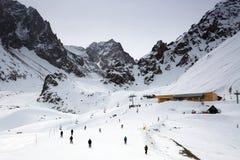 Ski resort Chimbulak. Chimbulak ski resort is located in the mountains of Zailiysky Alatau near Almaty Royalty Free Stock Image