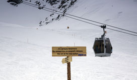 Ski resort Chimbulak. Chimbulak ski resort is located in the mountains of Zailiysky Alatau near Almaty Royalty Free Stock Photos