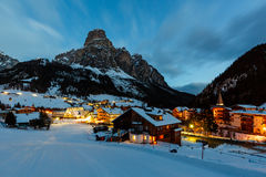 Ski Resort of Corvara at Night Stock Photos