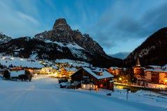 Ski Resort of Corvara at Night Stock Photos